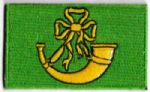 Huntingdonshire Embroidered Flag Patch, style 04